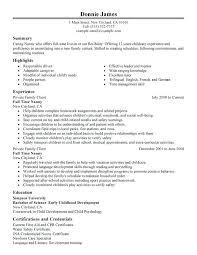 Nanny Job Description For Resume Cool Ideas Of Nanny Job Description Resume Sample Spectacular Babysitter