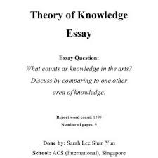 tok intuition essay sample resume ideas tok essays ib survival   example tok essays tok theory of knowledge essay what counts as in the arts tok