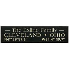 personalized family name coordinates wood wall art on cleveland wood wall art with personalized family name coordinates wood wall art at signals ra0242