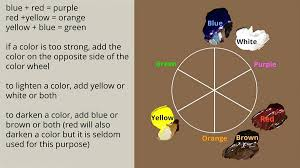 how to make brown color paint color mixing wheel