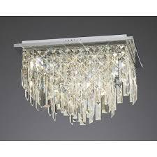 diyas il30252 maddison ceiling square 6 light polished chrome crystal