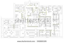 office furniture planning. Standard Office Furniture Symbols Set Used In Architecture Plans, Planning Icon Set, Graphic E