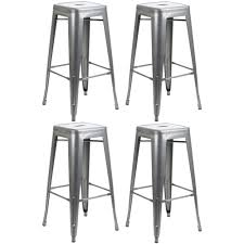 Kitchen Chair Floor Protectors Details About Gunmetal Metal Stool Breakfast Bar Seat Chair