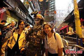 People Dressed In Halloween Costumes Celebrate The Western Festival At Lan  Kwai Fong In Hong Kong