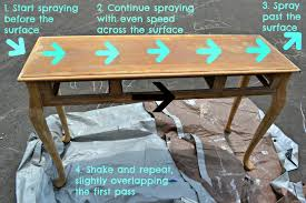 DIY Spray Painted Console Table How to Update Furniture with