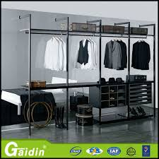 aluminum accessories wooden shelves furniture pole system wardrobe walk in closet for