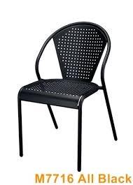 black metal outdoor furniture. Metal Frame Outdoor Furniture Model Black W Seat Back As . I