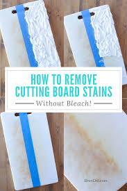 learn how to remove stains from plastic cutting boards with hydrogen peroxide baking soda
