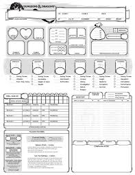 hero forge character sheet fifth edition dungeons dragons permanent character folder