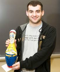 Decorated Bowling Pins Western Students 'Pin Down' Creative Ideas for Kids' Sake 38
