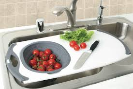 Sink With Cutting Board Kitchen Sink With Sliding Cutting Board