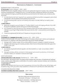 Management Skills Examples For Resume Continuity Risk Resume Example