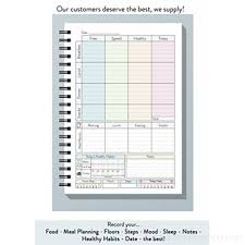 My Diet Diary Meal Planner Recipe Pages Body Tracker Notes Activity Plan Perfect For Slimming World Plans 12 3knaszsg4