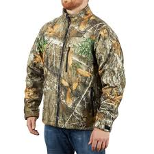 Milwaukee Mens X Large M12 12 Volt Lithium Ion Cordless Realtree Camo Heated Jacket Kit With 1 2 0ah Battery And Charger