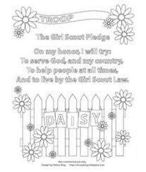 Small Picture Girl Scout Pledge Coloring Page good for girls to do last few