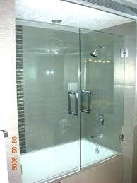 frameless bathtub door glass bath doors for master cost tub home depot shower brushed nickel