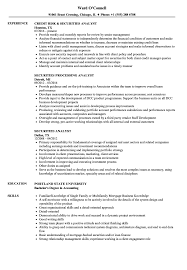 Securities Analyst Resume Samples | Velvet Jobs