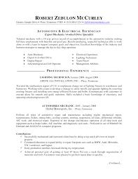 Resume Of Generator Technician Resume For Study