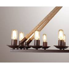 new 40 vintage edison rectangular hemp jute rope lamp pendant 14 light chandelierceiling lights