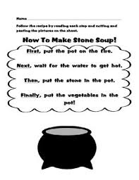 Free printable stone soup for reading comprehension : Pin On Sequencing