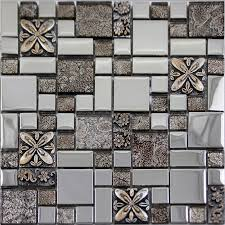 glass mosaic tiles blacksplash crystal mosaic tile bathroom plated wall porcelain stickers gsb03