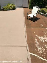 how to paint concrete patio makeover