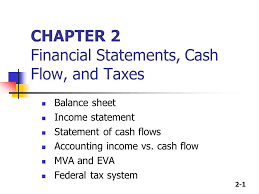 balance sheet vs income statement 2 1 chapter 2 financial statements cash flow and taxes balance