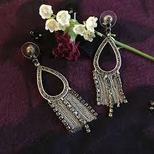marcasite chandelier earrings vintage modern design jewelry with