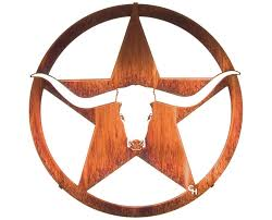 on texas star metal wall art with longhorn bull and star of texas metal wall sculpture