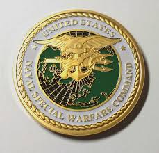 Navy Seal Team Sea Land Air Naval Special Warfare Command Colorized Challenge Art Coin