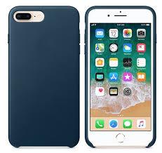 apple iphone 8 plus 7 plus leather case cosmos blue