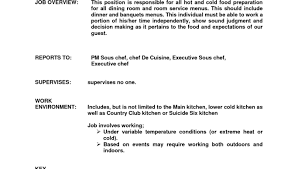 Sous Chef Resume Lead Cook Resume Sample Download Cook Resume