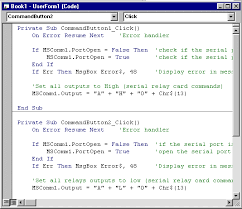 Pencom Visual Basic For Application Serial Port Software Example