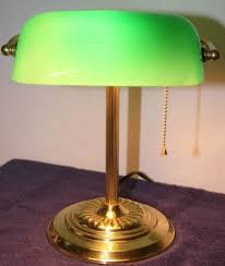 Details About Vintage Bankers Lamp Green Shade Desk Glass Student