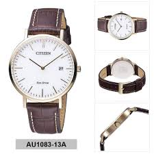 citizen citizen eco drive brown stainless steel case leather strap mens au1083 13a malaysia