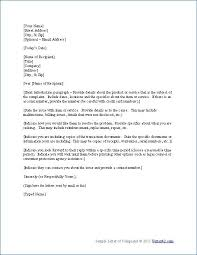 Free Formal Letter Template Free Sample Letter Templates Business Letter Format