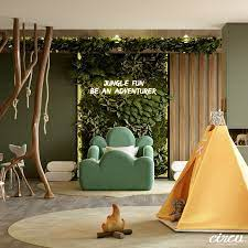 jungle theme kids room a luxury