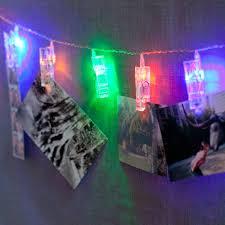 decorative string lighting. lightscom string lights decorative multicolor 20 led clothespin battery set of 2 lighting