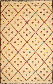 rugsville diamond southwestern handmade wool kilim rug 150x240