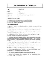 awesome wait staff job description for resume pictures simple
