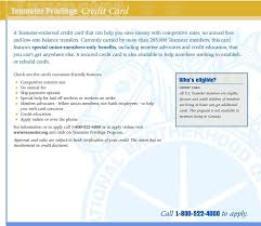 a secured credit card is also available to help members working to elish or rebuild credit