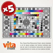 5 Sets Of Large High Resolution Test Charts For Lens And Camera By Vitamall Ebay