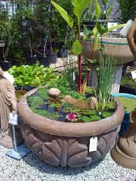 diy patio pond: mini pond in a pot woohome