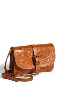 image of patricia nash torri embossed leather cross bag