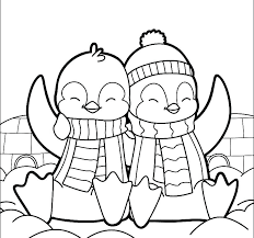 Printable Penguin Coloring Pages Baby Penguin Coloring Pages