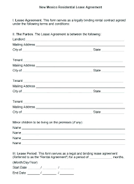 Residential Lease Agreement Forms Simple Form Rental Format In Word ...
