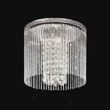 cf5724 charisma large crystal flush ceiling light