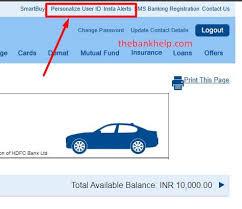 create user id in hdfc netbanking