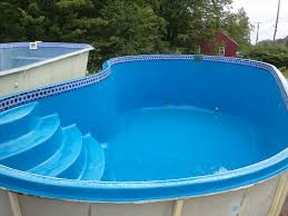 Swimming Pool Curve Above Ground Fiberglass Pool With Entry Pool
