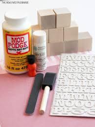 Wooden Baby Blocks DIY Supplies